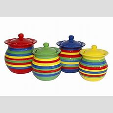 Colorful Kitchen Canisters Amazoncom
