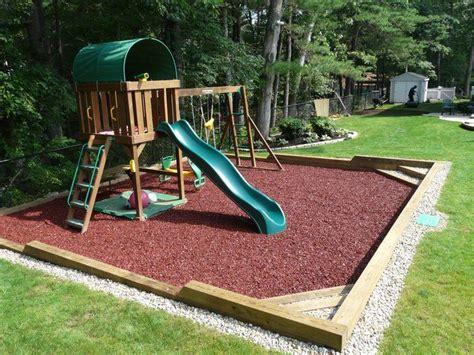 Backyard Playground Ground Cover by In Ground Custom Playground With Rubber Mulch Nurture
