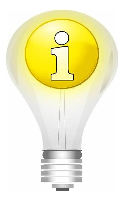 Idea Lightbulb Symbol Signs Oversized Icons Domain