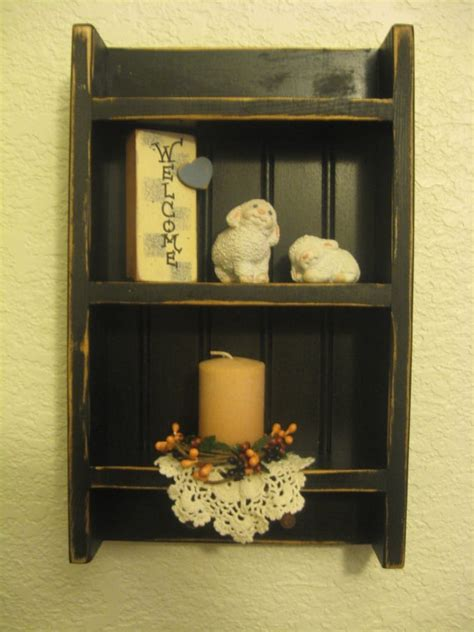 primitive wood display shelf small  pattisctrywoodcraft