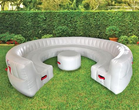 Inflateable Sofa by Outdoor Circular Fits Up To 30