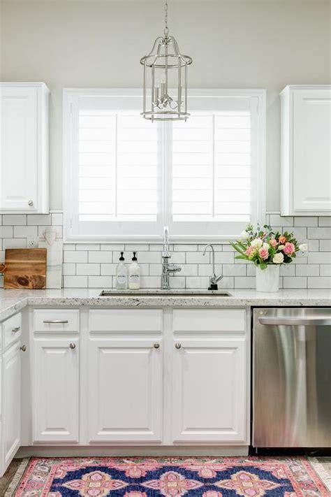 white kitchen subway tile backsplash white granite kitchen countertops with white subway tile