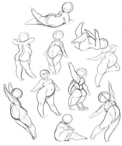 cute chubby girl poses drawing   drawings