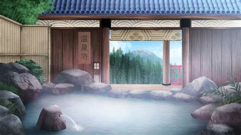 onsen bath visual  bg  gin   deviantart
