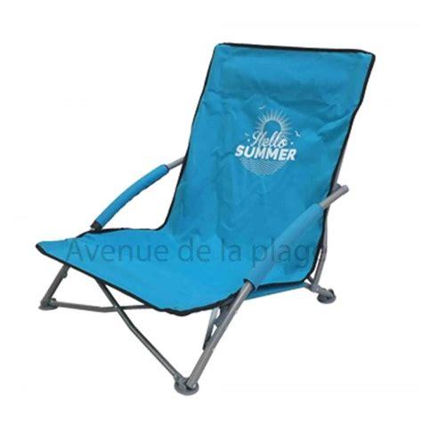 siege de plage pliante siège de plage bas pliant hello summer pas cher chaise de