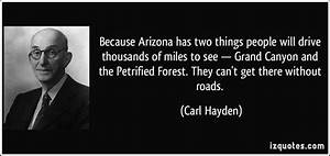 Because Arizona... Carl Hayden Quotes