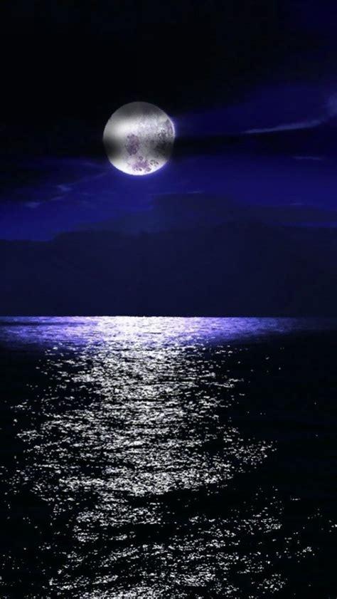 full moon   sea iphone     iphone