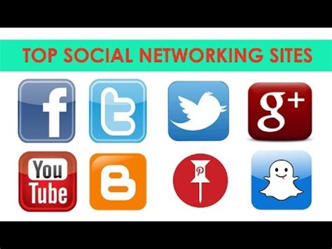 Top Social Networking Sites  Most Popular Sites Youtube