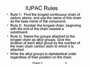 Iupac Nomenclature Uses The Longest Continuous Chain Of