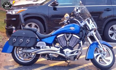 Victory Kingpin Motorcycle Saddlebags Trianon Leather From