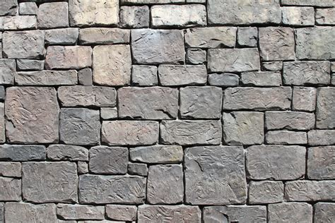 Jagged Gray Stone Wall Texture In Two Variants For