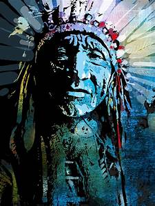 Sioux Chief Painting by Paul Sachtleben