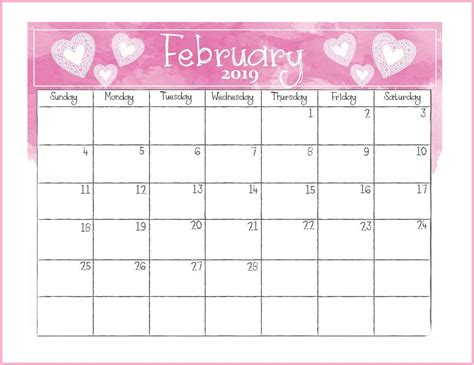 printable february desk calendar monthly calendar