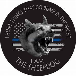I Am The Sheepdog Thin Blue Line Flag Reflective Decal