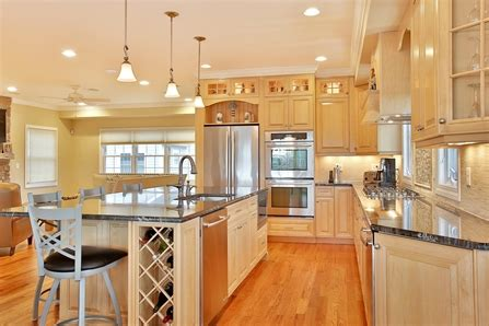natural stained wood kitchen toms river  jersey