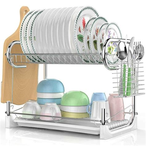 dish drying rack  drain board countertop drainer