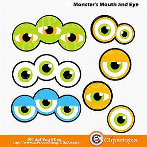 Cute Monster Eyes Clipart - ClipartXtras