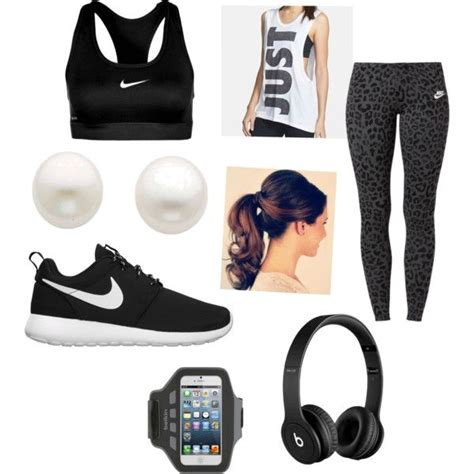 Workout outfit by mia456 on Polyvore featuring NIKE Reeds Jewelers Belkin and Beats by Dr. Dre ...