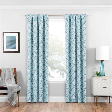 eclipse blackout drapes eclipse blackout benchley 84 in l teal rod pocket curtain
