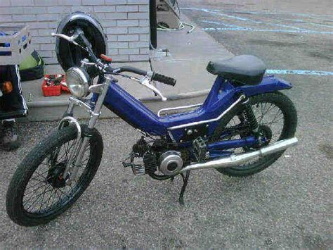quot blue quot a 1980 puch maxi custom build the moped i built and later gifted to my