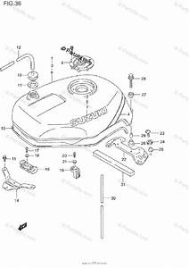 Suzuki Motorcycle 1995 Oem Parts Diagram For Fuel Tank