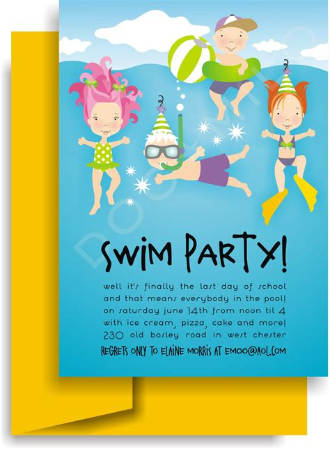 einladung kindergeburtstag schwimmbad vorlagen