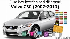 Fuse Box Location And Diagrams  Volvo C30  2007