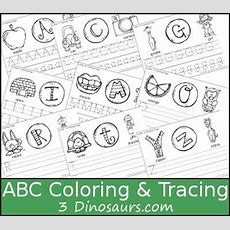 New Free Abc Coloring & Tracing Printable  This Is A Coloring Page With Letter Tracing There