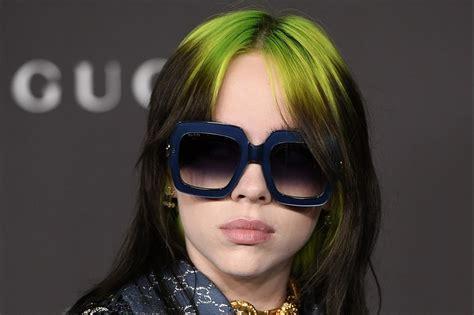 billie eilish reveals  green mullet hairstyle   accident