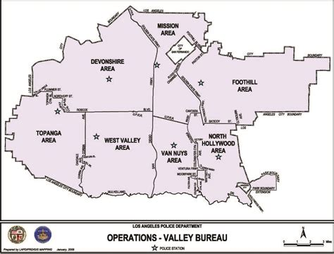 bureau valey map of valley bureau los angeles department