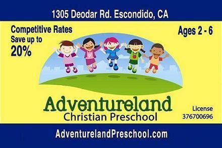 what age is preschool in california adventureland christian preschool escondido ca day care 181