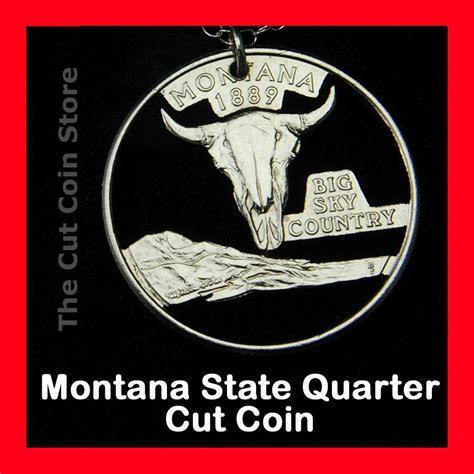 how big is a quarter montana big sky country 25 162 quarter cut coin necklace mt treasure state jewelry ebay