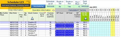 generate daily production schedule report template excel