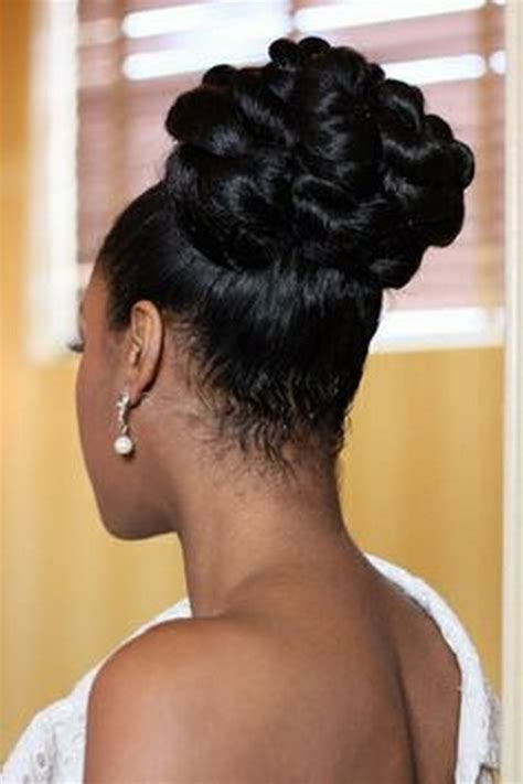 Updo Hairstyles For Black Wedding by Wedding Hairstyles For Black Brides