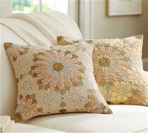 Pillows At Pottery Barn by Sofia Tile Sequined Embroidered Pillow Cover Pottery Barn