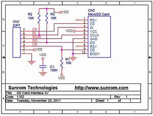 Micro Sd Memory Card Interface For 3v Mcu  1102    Sunrom