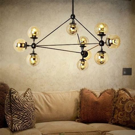 Modern Brass Chandelier by Mid Century 10 Arms Modern Brass Chandelier Industrial