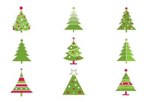 stilisierte weihnachtsbaum vektor pack kostenlose vektor