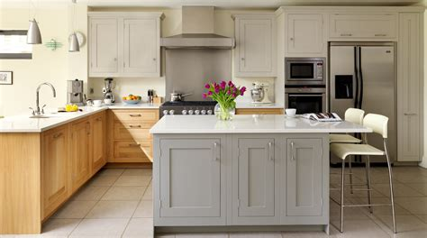 oak painted shaker kitchen gallery kitchen pinterest
