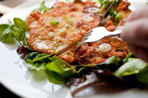 Crisp Chicken Schnitzel With Lemony Herb Salad Recipe