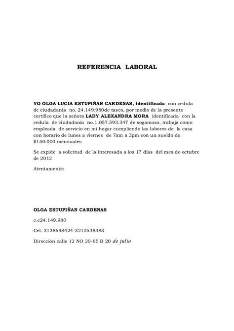 Carta De Referencia Formal Formato Carta Recomendacion Personal