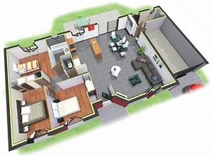plan3dboutondorjpg 1 218 x 907 pixels miscellaneous With plan maison r 1 100m2 9 plan maison 3d dappartement 2 piaces en 60 exemples