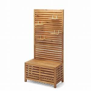 Balkon Sichtschutz Holz : sichtschutz bank akazienholz 100 fsc zertifiziert natur ~ Watch28wear.com Haus und Dekorationen