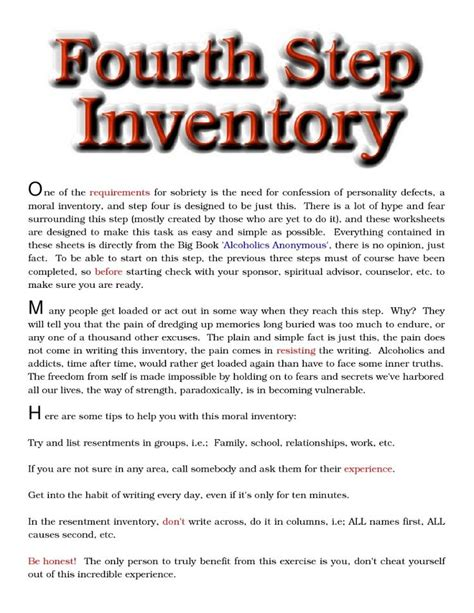 aa 4th step workshop recovery and quotes