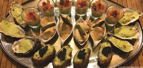 cuisine sans oeufs apéritif dînatoire de la mer