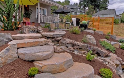 lighted house 25 rock garden designs landscaping ideas for front yard