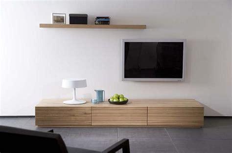 meuble tv bas long bois
