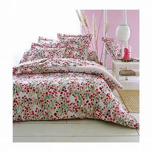 parure housse de couette quotprairie fleuriequot blanc et rose With affiche chambre bébé avec housse couette fleurie