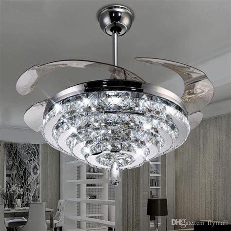 modern bedroom ceiling fans 2017 led crystal chandelier fan lights invisible fan