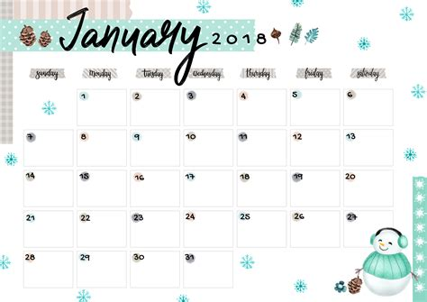 Free calendar printable offers templates for 2021, 2022, 2023, & beyond. January 2018 Printable Colorful Calendar - Free Download ...